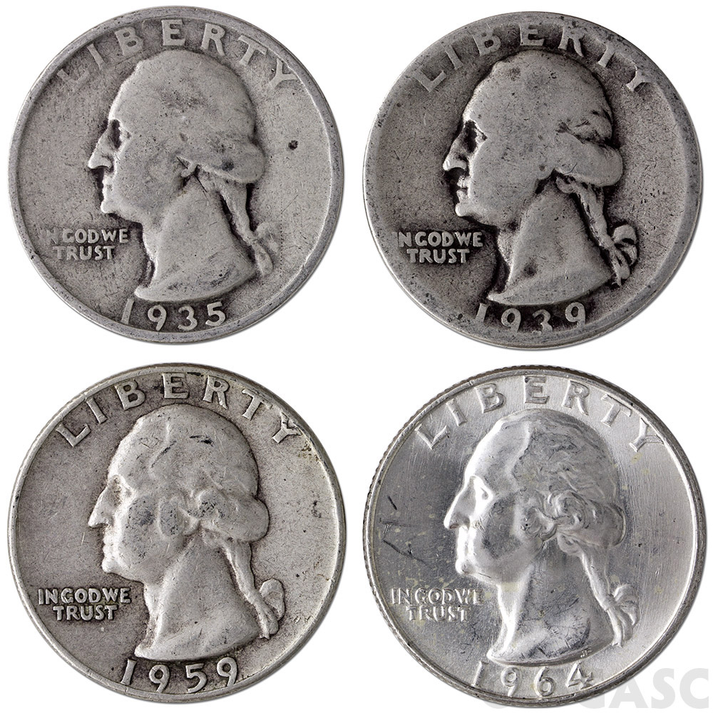 Buy 90 Silver Quarters 1 Face Value In 90 Percent Junk