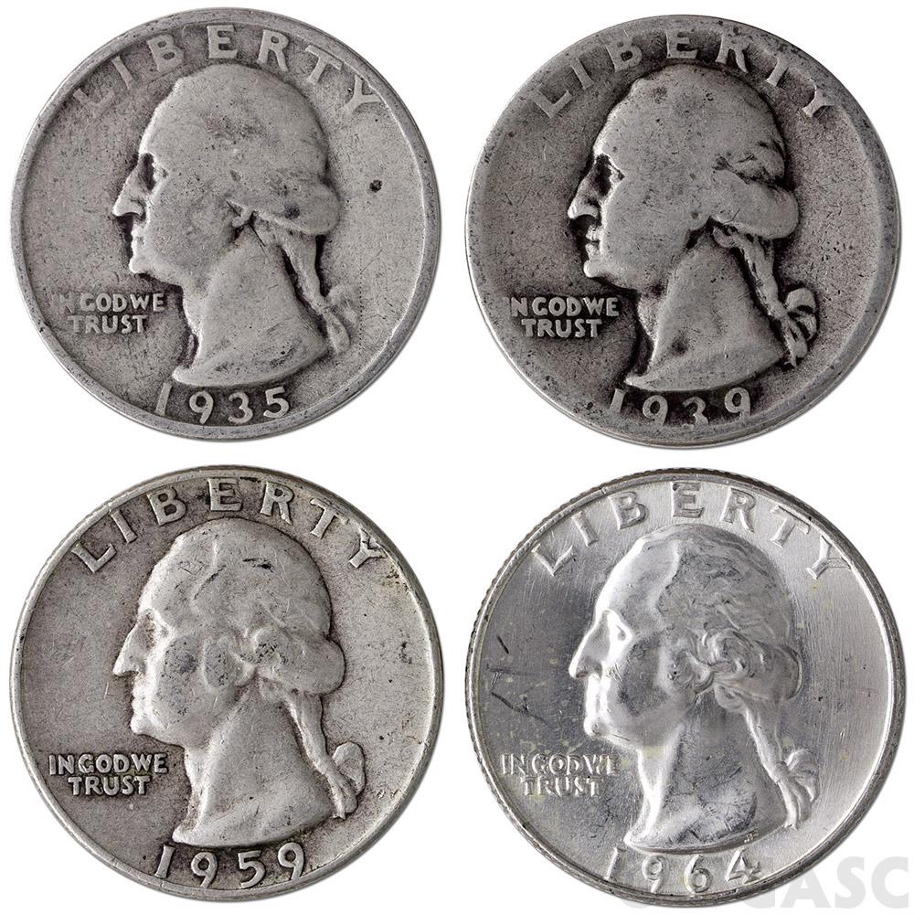 Buy 90 Silver Quarters 1 Face Value In 90 Percent Junk