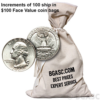 90 Percent Silver Quarters - $1 Face Value in Silver Coins - Image