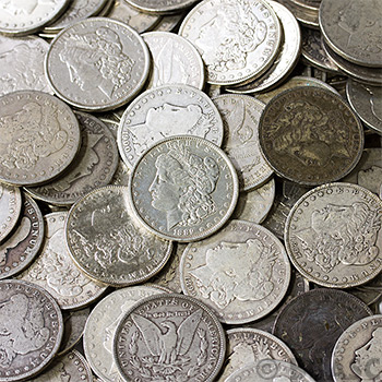 Morgan Silver Dollars Silver Cull - Image