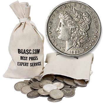 Morgan Silver Dollars 100 Coin Bag - 90% Silver Coins Circulated Cull