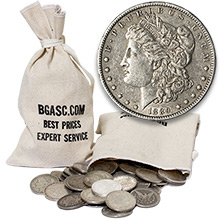 Morgan Silver Dollars 100 Coin Bag - 90% Silver Coins Circulated Cull
