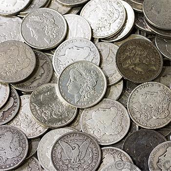 Morgan Silver Dollars 100-Coin Bag Cull Silver Coins - Image
