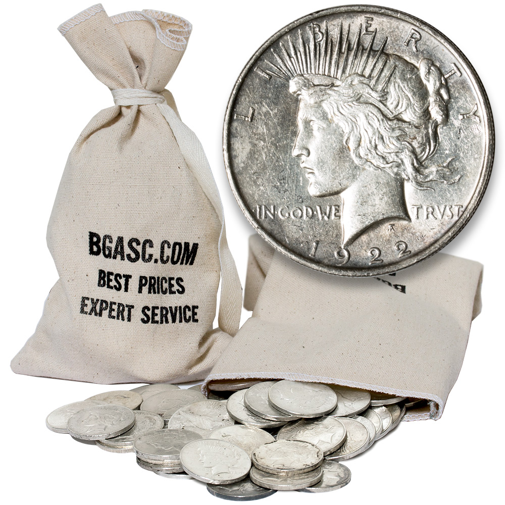 Buy Peace Silver Dollars 100 Coin Bag 90 Silver Coins