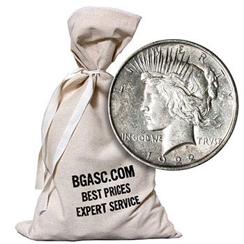 Peace Silver Dollars 500 Coin Bag - 90% Silver Coins Circulated Cull