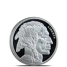 1/10 oz Silver Round Buffalo Design by Jet Bullion .999 Fine Fractional Silver Bullion