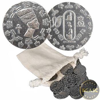 1/10 oz Silver Round Monarch Egyptian Queen Nefertiti .999 Fine Fractional Silver Bullion - Image