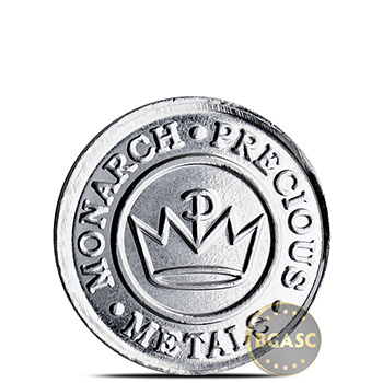 Tenth oz Silver Round Monarch Train .999 Fine Fractional Silver Bullion - Image