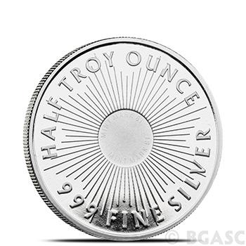 1/2 oz Silver Rounds Sunshine Minting .999 Fine Silver Bullion - Image