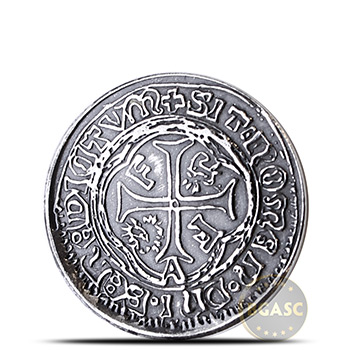 1/4 oz Silver Rounds MK BarZ Pirate Treasure Spanish Doubloon .999 Fine Fractional Bullion
