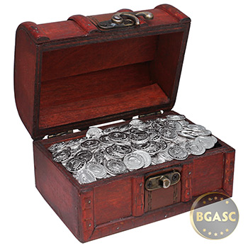 Treasure Chest of 500 x 1 gram Silver Salmon Rounds  .999 Fine Bullion (500 Rounds)