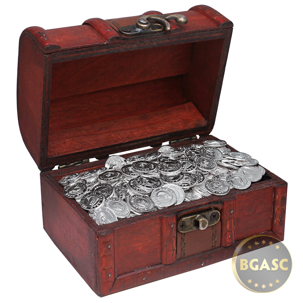 Buy Treasure Chest Of 500 X 1 Gram Silver Salmon Rounds