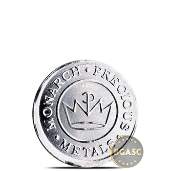 1 gram Silver Round Monarch Salmon .999 Fine Fractional Silver Bullion - Image
