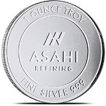 1 oz Silver Rounds Asahi .999 Fine Bullion