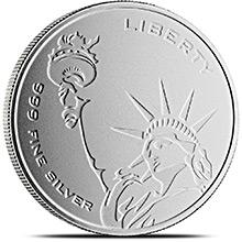 1 oz Silver Rounds Freedom & Liberty Asahi Mint .999 Fine Bullion