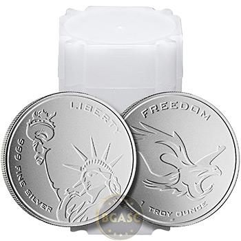 1 oz Silver Rounds Freedom & Liberty Asahi Mint .999 Fine Bullion - Image