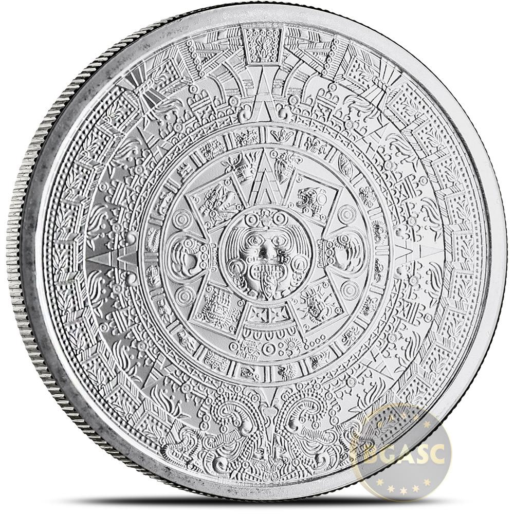 /&  5 oz Copper Round Coins   3 COIN SET 2 oz AZTEC CALENDAR  design 1 oz