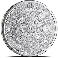 1 oz Silver Rounds Aztec Calendar .999 Fine Silver Bullion