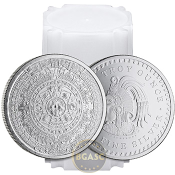 1 oz Silver Rounds Aztec Calendar .999 Fine Silver Bullion - Image