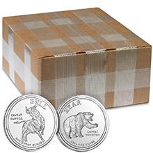 Monster Box of 1 oz Bull / Bear Market Silver Rounds .999+ Fine Silver Bullion (500 Rounds)