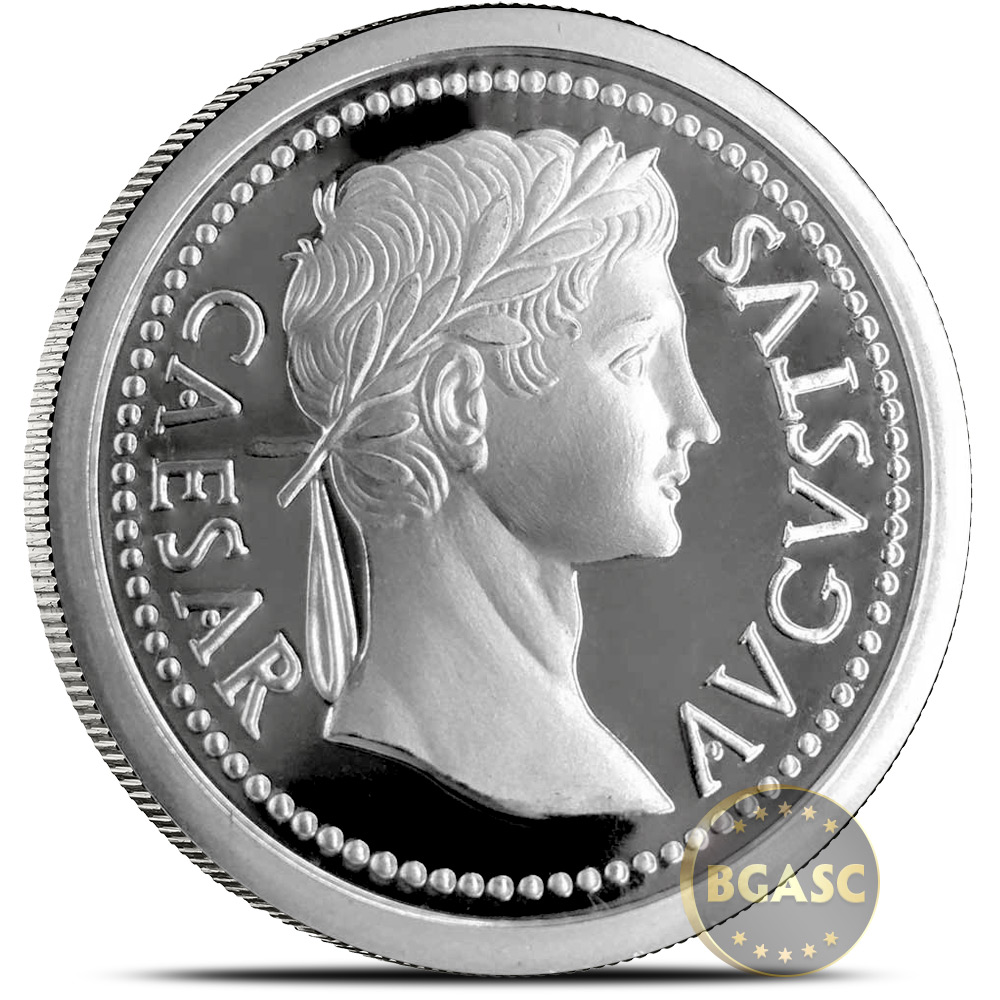 Buy 1 Oz Silver Rounds Caesar Augustus 999 Fine Silver