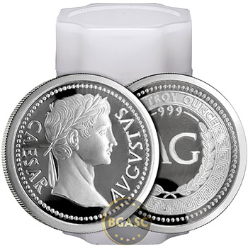 1 oz Silver Rounds Ceasar Augustus .999 Fine Silver Bullion - Image