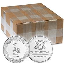 1 oz Silver Rounds Elemetal .999 Fine Silver Bullion Monster Box