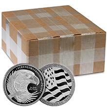 Monster Box of 1 oz GSM Eagle Design Silver Rounds .999 Fine Bullion (500 Rounds)