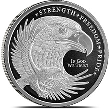 1 oz Silver Rounds Eagle Design by GSM Golden State Mint .999 Fine Silver Bullion