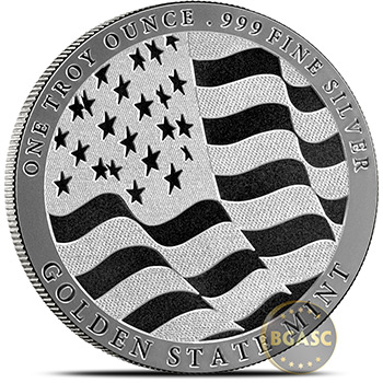 1 oz Silver Rounds Eagle Design by GSM Golden State Mint .999 Fine Silver Bullion - Image