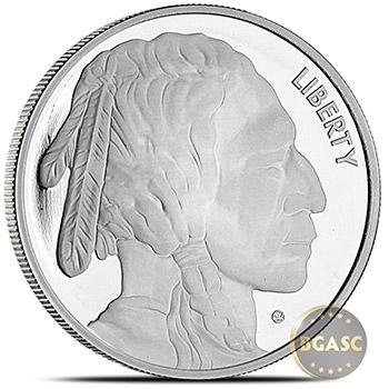 1 oz Silver Rounds Buffalo Design by Jet Bullion .999 Fine