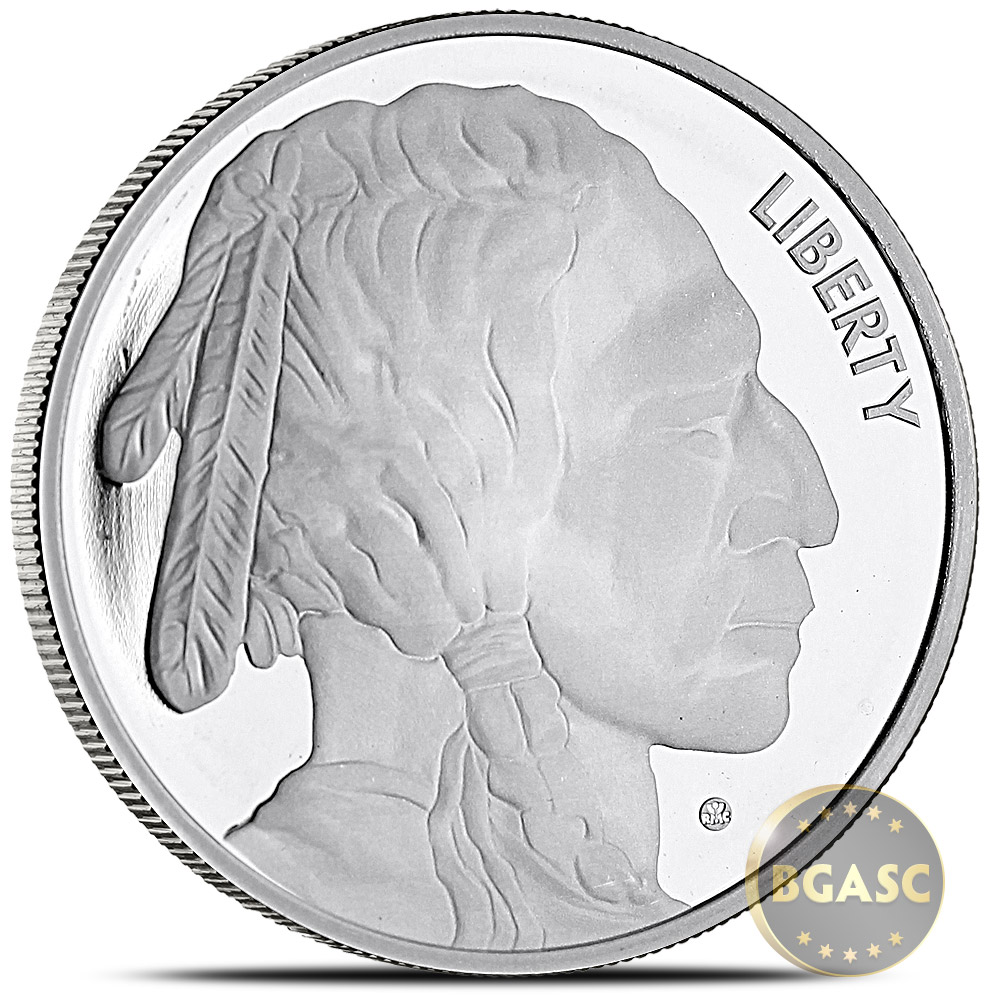 Buy 1 Oz Silver Rounds Buffalo Design By Jet Bullion 999