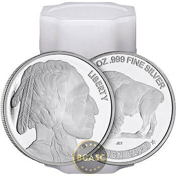 1 oz Silver Rounds Buffalo Design .999 Fine Silver Bullion - Image
