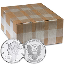 Monster Box of 1 oz Mercury Silver Rounds .999 Fine Silver by Jet Bullion (500 Rounds)