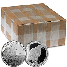Monster Box of 1 oz Silver Prospector Rounds .999 Fine Silver by Jet Bullion (500 Rounds)