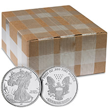Monster Box of 1 oz Walking Liberty Silver Rounds .999 Fine Silver by Jet Bullion (500 Rounds)