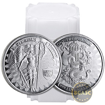 1 oz Silver Liberty and Unity High Relief Rounds .999 Fine Silver Bullion - Image