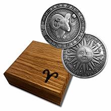 1 oz Silver ARIES Zodiac Round .999 Fine in Display Box