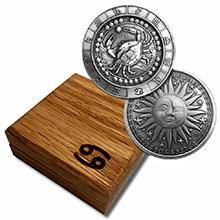 1 oz Silver CANCER Zodiac Round .999 Fine in Display Box