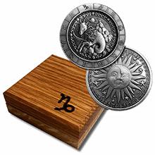 1 oz Silver CAPRICORN Zodiac Round .999 Fine in Display Box