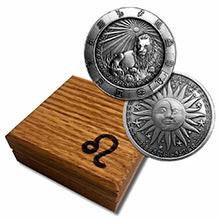 1 oz Silver LEO Zodiac Round .999 Fine in Display Box