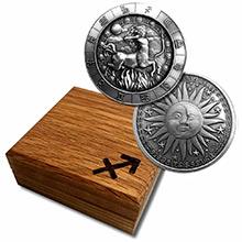 1 oz Silver SAGITTARIUS Zodiac Round .999 Fine in Display Box