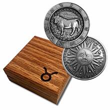1 oz Silver TAURUS Zodiac Round .999 Fine in Display Box