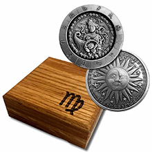 1 oz Silver VIRGO Zodiac Round .999 Fine in Display Box