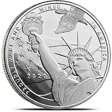 1 oz Silver Rounds 2021 True Patriot .999 Fine Silver Bullion