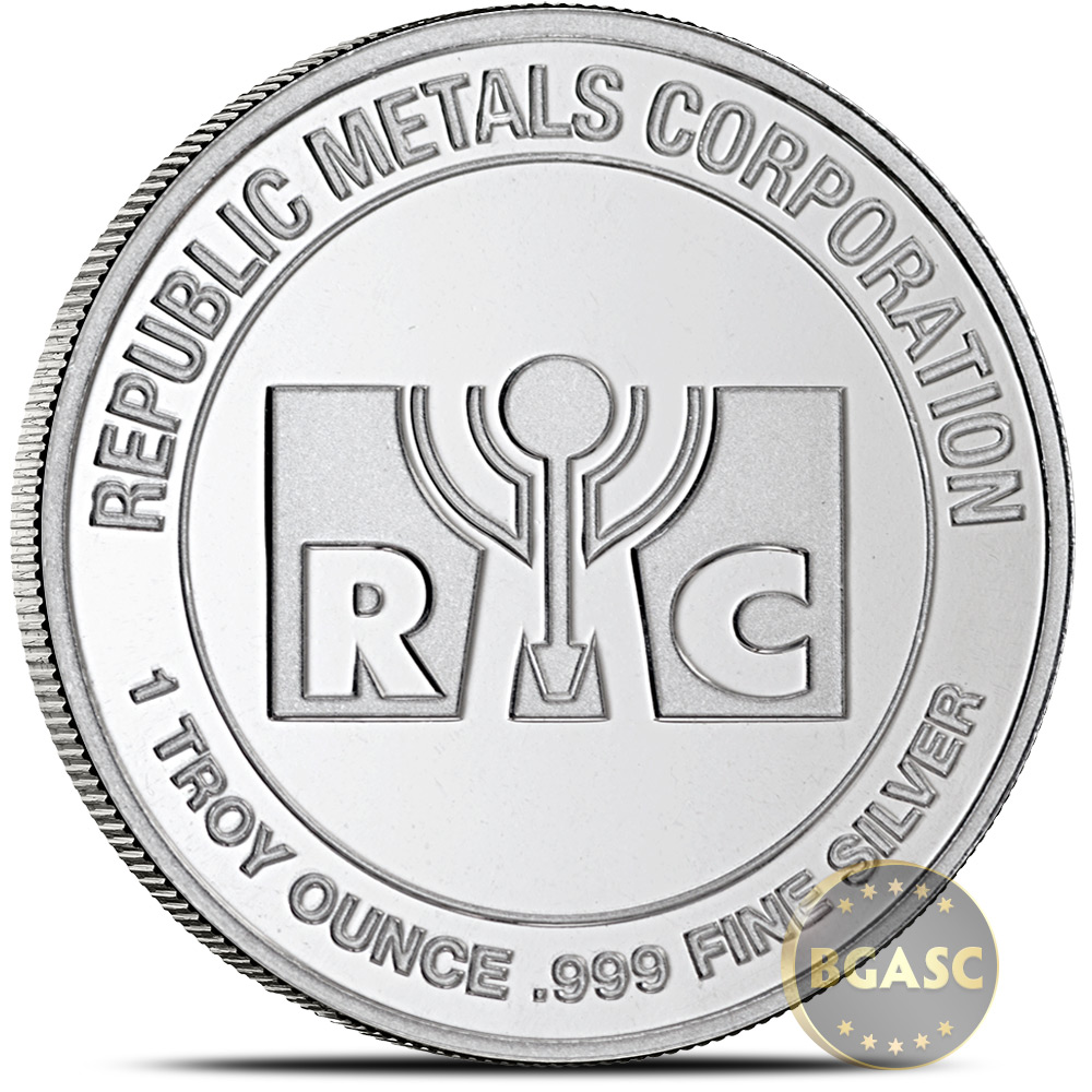 Buy 1 Oz Silver Rounds Republic Metals Rmc 999 Fine