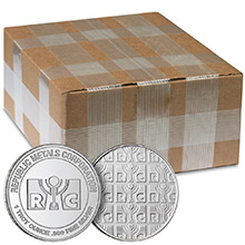Monster Box of 1 oz Republic Metals RMC Silver Rounds .999 Fine Silver Bullion (500 Rounds)