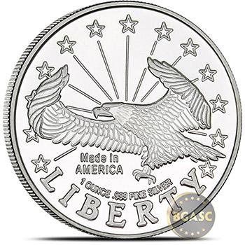 1 oz Silver Rounds SilverTowne Liberty Eagle .999 Fine Silver Bullion