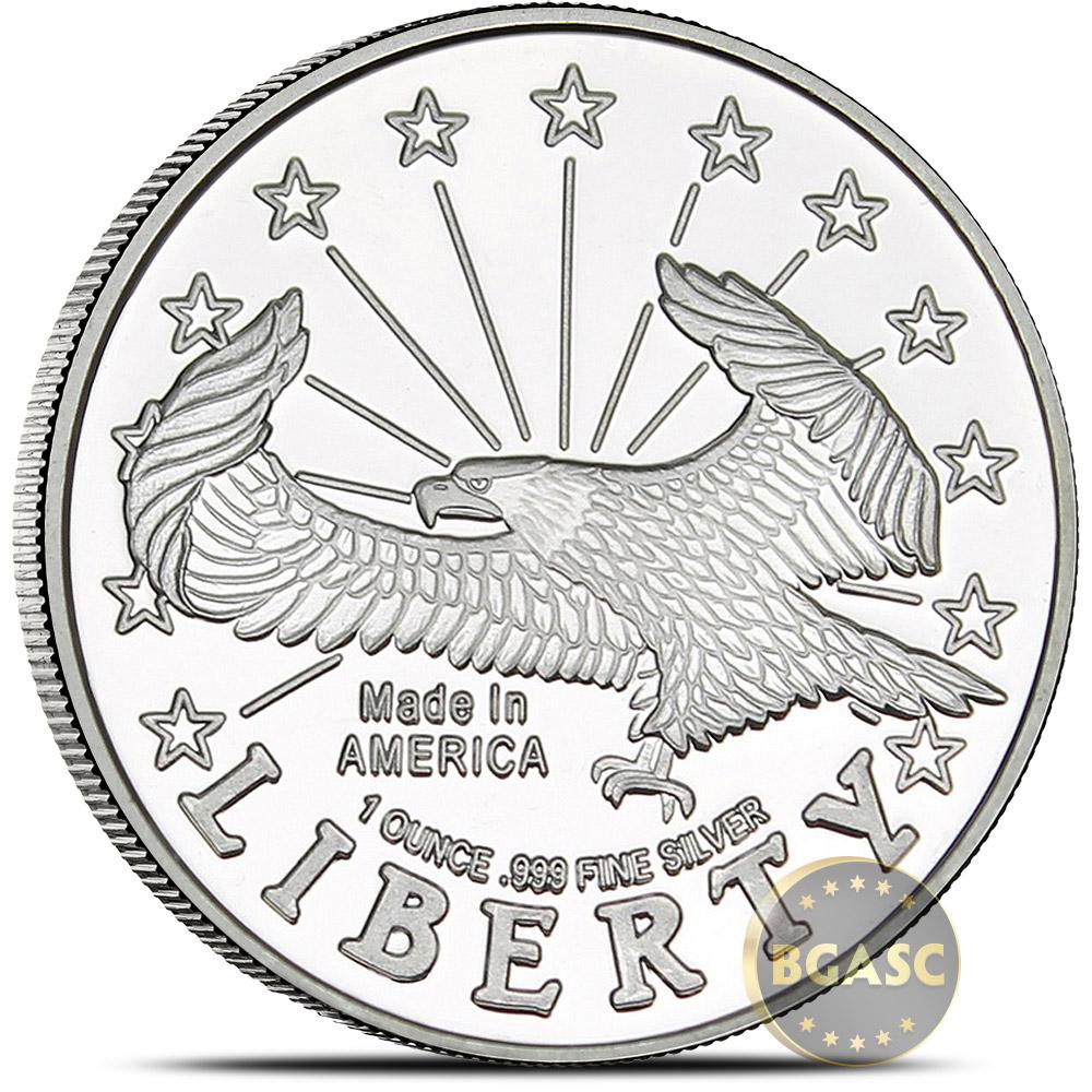 Buy 1 Oz Silver Rounds Silvertowne Liberty Eagle 999 Fine