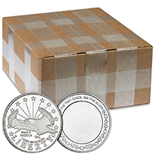 Monster Box of 1 oz SilverTowne Eagle Design Silver Rounds .999 Fine Bullion (500 Rounds)